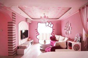 pink-hello-kitty-living-room