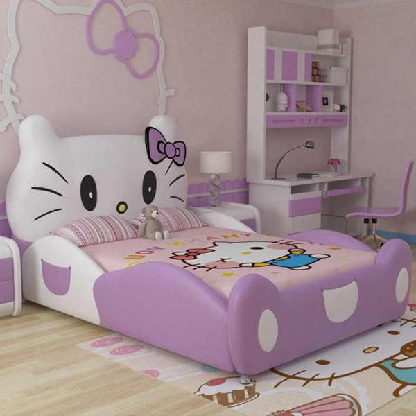 purple-hello-kitty-bedroom