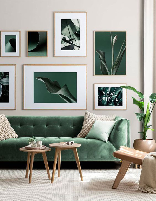 beautiful-green-living-room-with-artwall