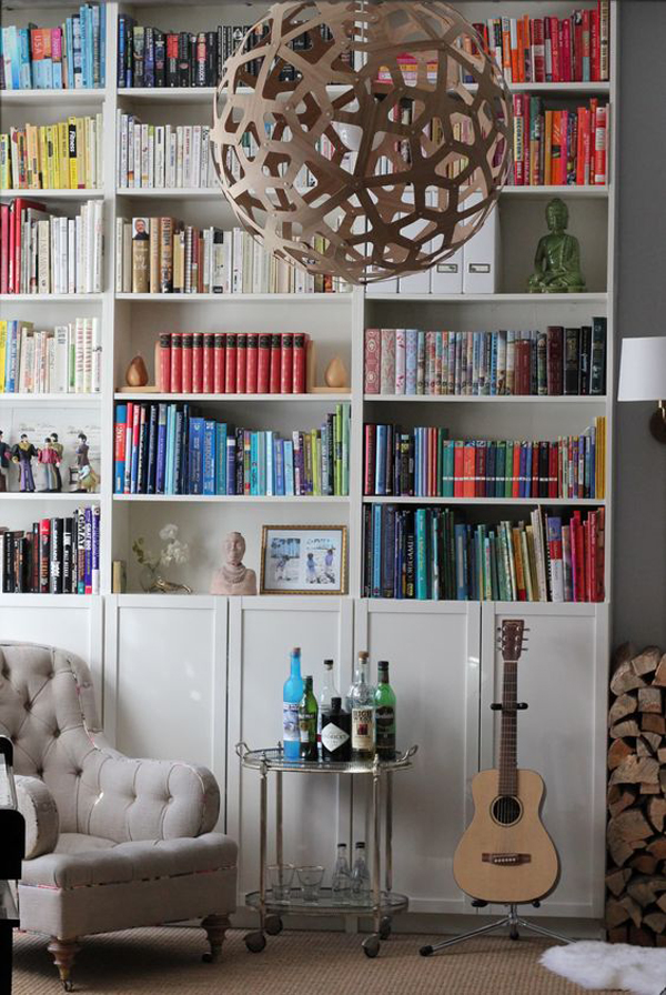 beautiful-organized-bookshelf-cabinet