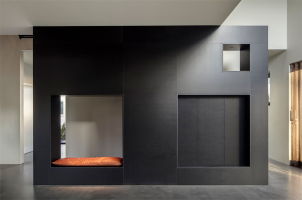 black-wood-under-stairs-benches