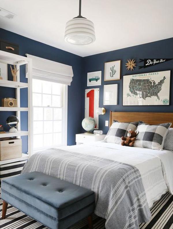 bold-blue-bedroom-design-for-boys