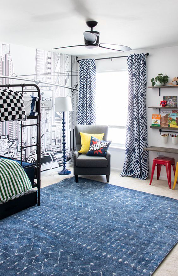 boys-room-makeover-with-super-hero-theme