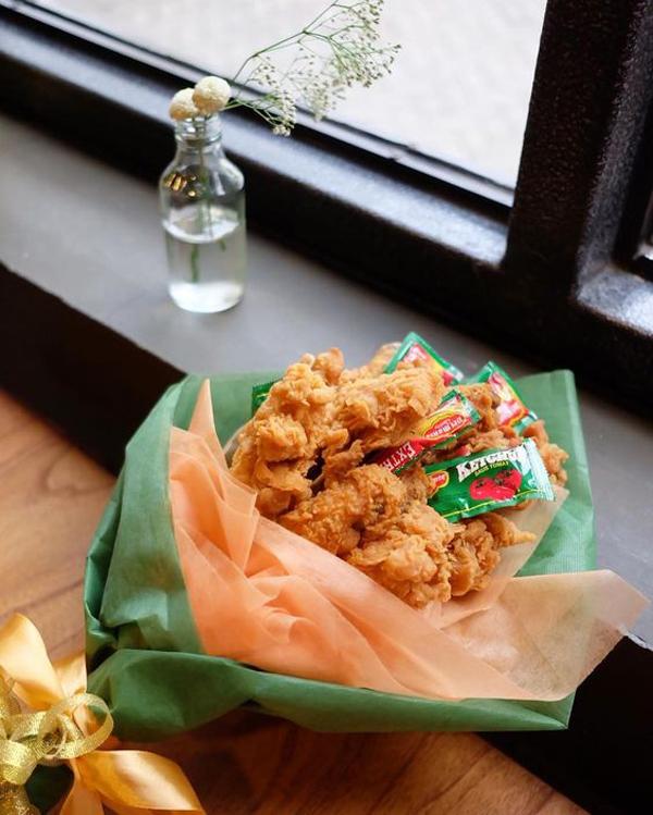 chicken-tender-food-ouquet-for-valentine-gift