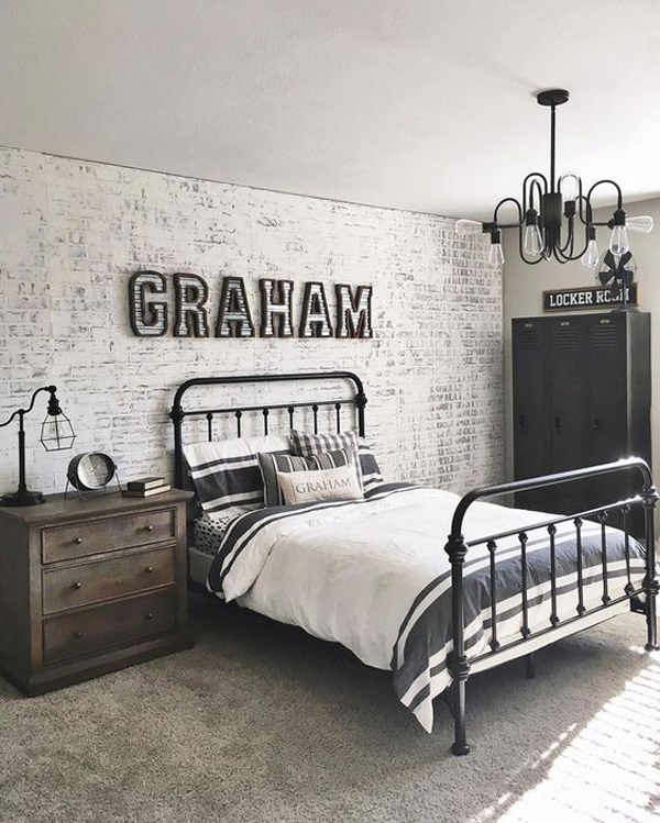 cool-and-classic-boys-bedroom-with-brick-exposed