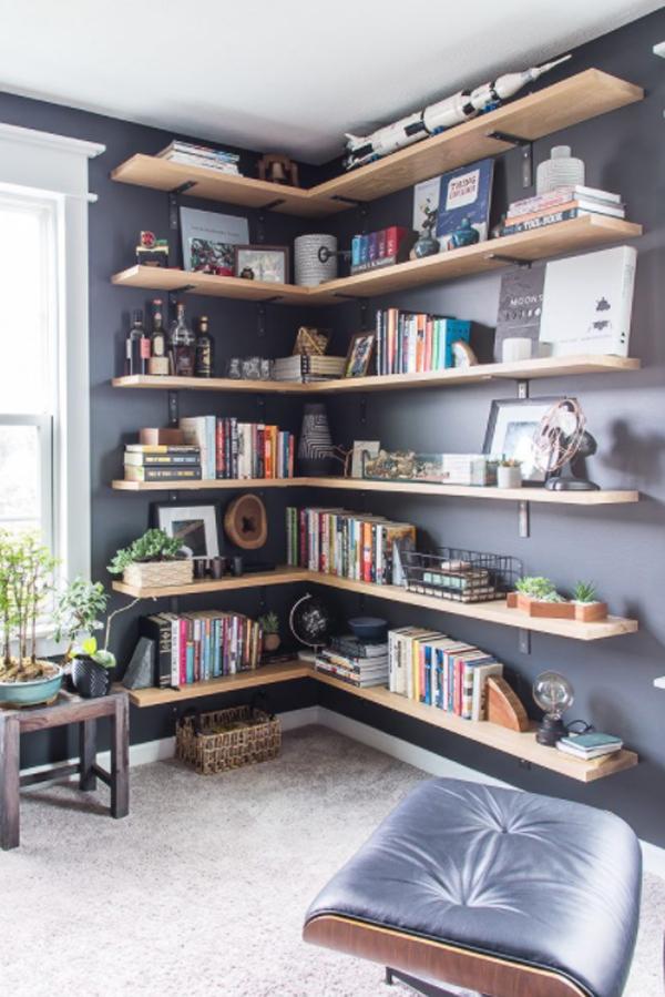 corner-bookshelf-decorating-ideas