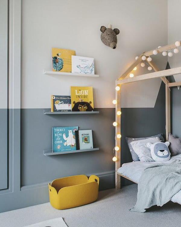 dreamy-boys-bedroom-with-bookcase-in-the-wall