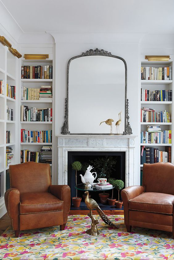 focal-point-bookshelves-ideas-with-fireplace
