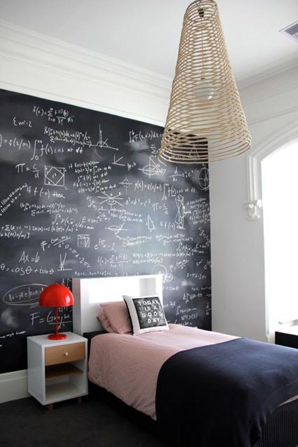 fun-kids-bedroom-with-chalkboard-wall
