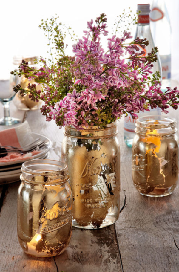 glam-mason-jars-flower-arrangement