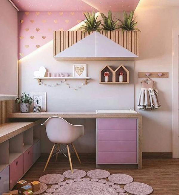 modern-pink-desk-design-for-girl
