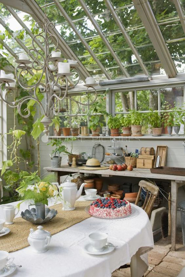 rustic-greenhouse-ideas-with-dining-area
