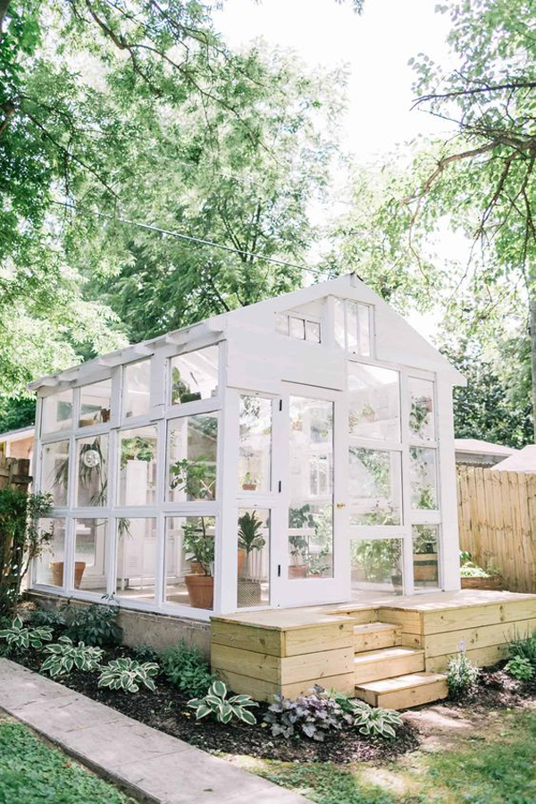 stylish-white-greenhouse-for-backyard