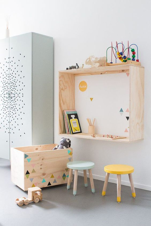 unique-wooden-kids-study-desk