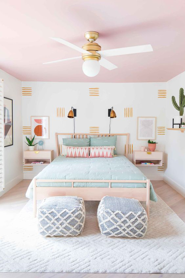 beautiful-girl-bedroom-with-pink-ceiling-ideas