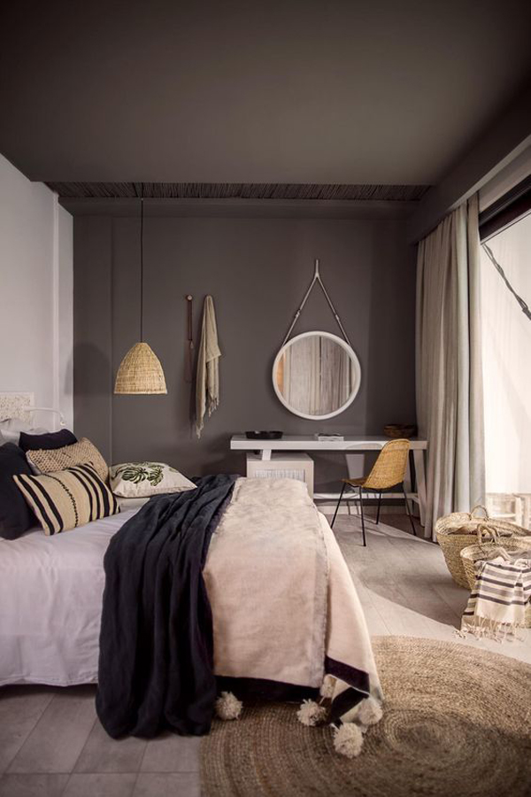 cool-dark-wall-and-ceiling-color-ideas-for-bedroom