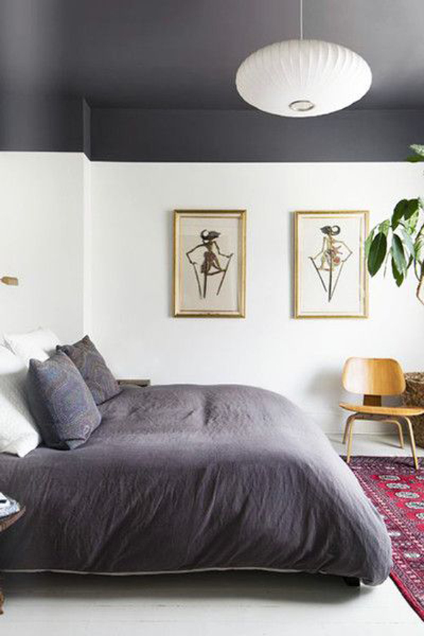cool-painted-ceiling-for-bedroom