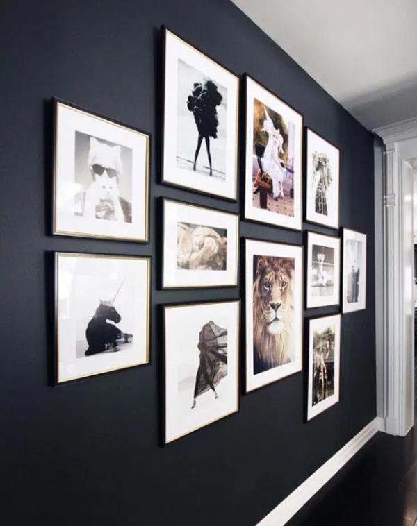 dramatic-gallery-photo-wall-ideas