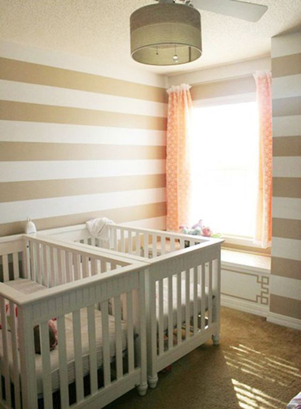 dreamy-twin-nurseries-with-striped-wall