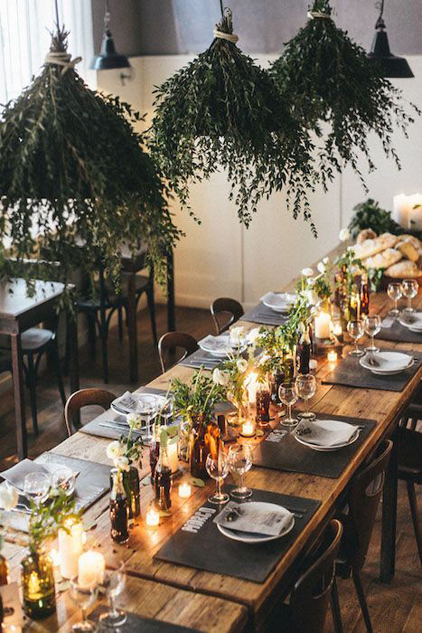 greenery-hanging-lights-for-wedding