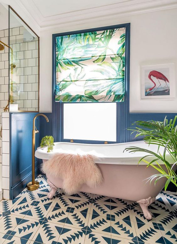 indoor-tropical-bathroom-with-pink-accents