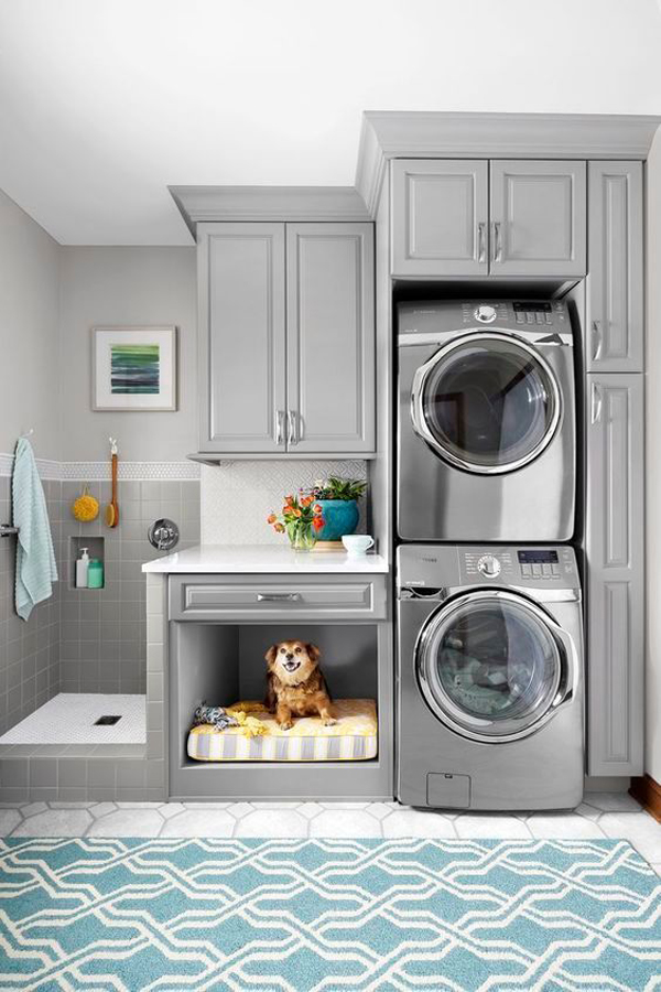 laundry-room-with-dog-wash-and-dog-beds