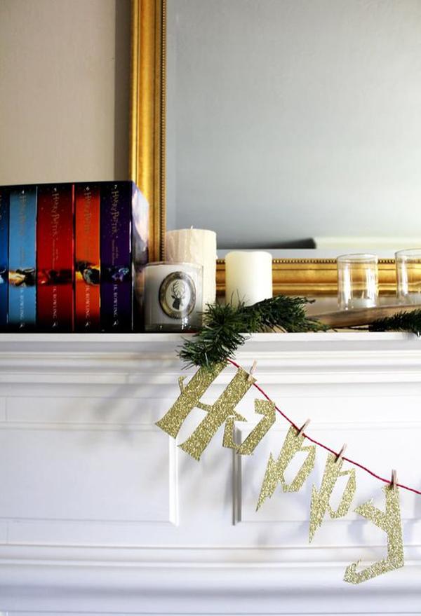 magical-harry-potter-christmas-mantel-decor