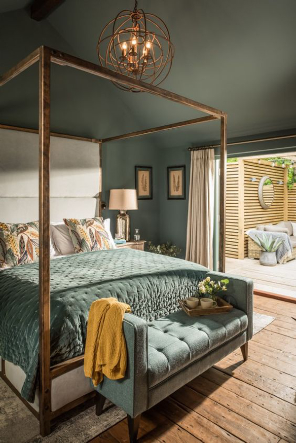 modern-vintage-bedroom-decor-with-ceiling-colors