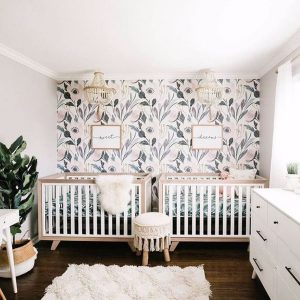 nature-inspired-twin-nurseries-with-wall-decals