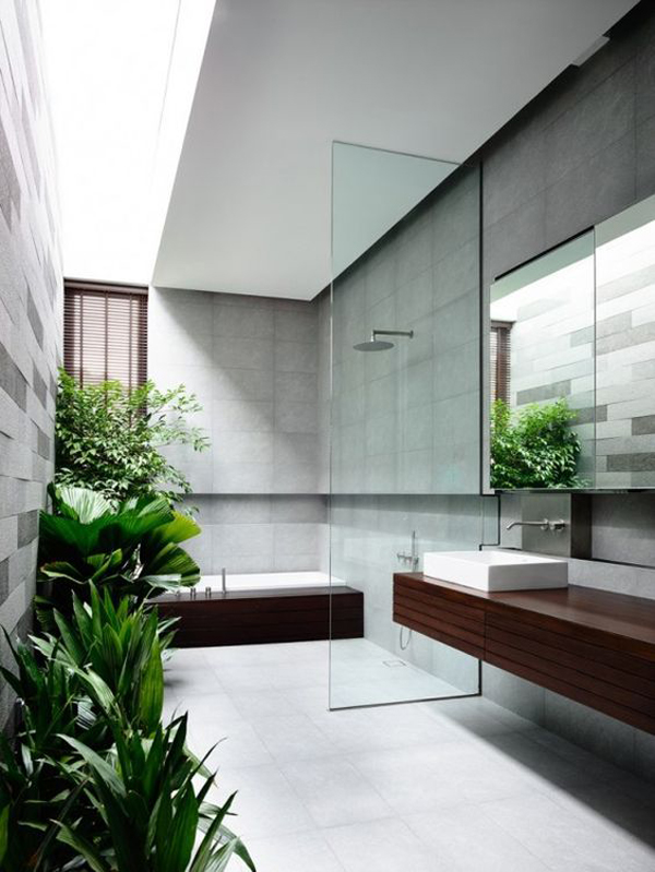 open-tropical-bathroom-design-with-glass-and-wood