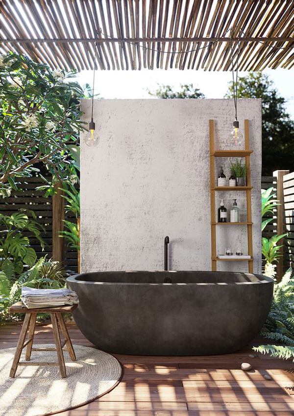 outdoor-freestanding-bathtub-with-tropical-style