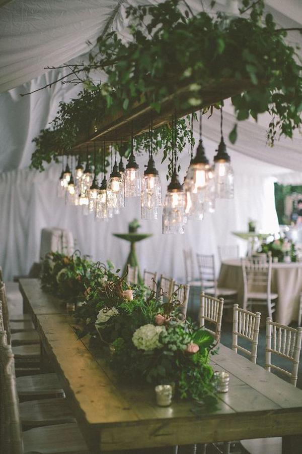 rustic-greenery-wedding-chandeliers