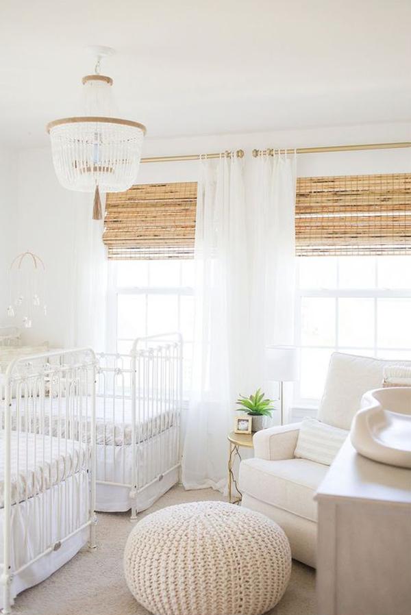 stylish-white-twin-nursery-decoration