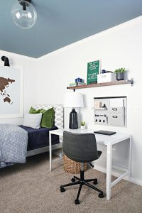 teen-bedroom-ideas-with-blue-painted-walls
