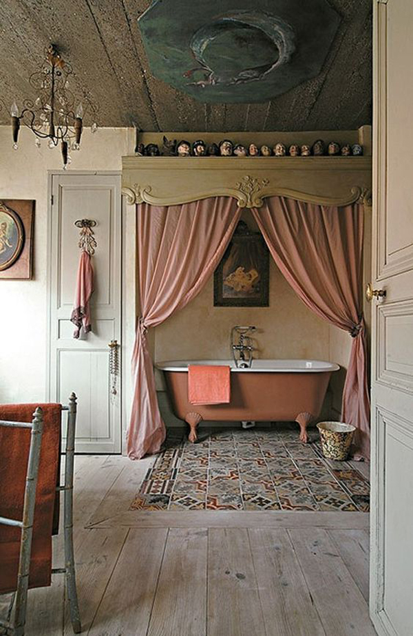 vintage-bathroom-ideas-with-curtains