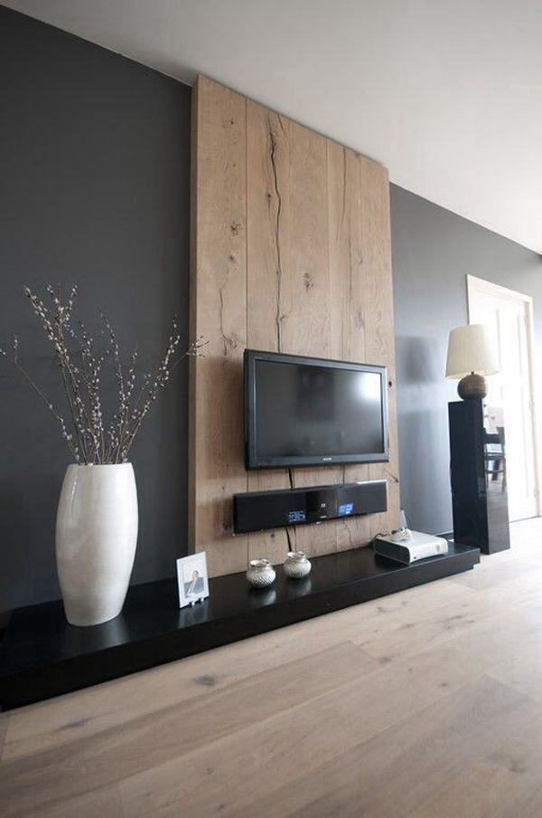 wooden-tv-wall-decor-with-rustic-style