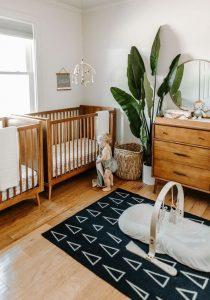wooden-twin-nursery-design