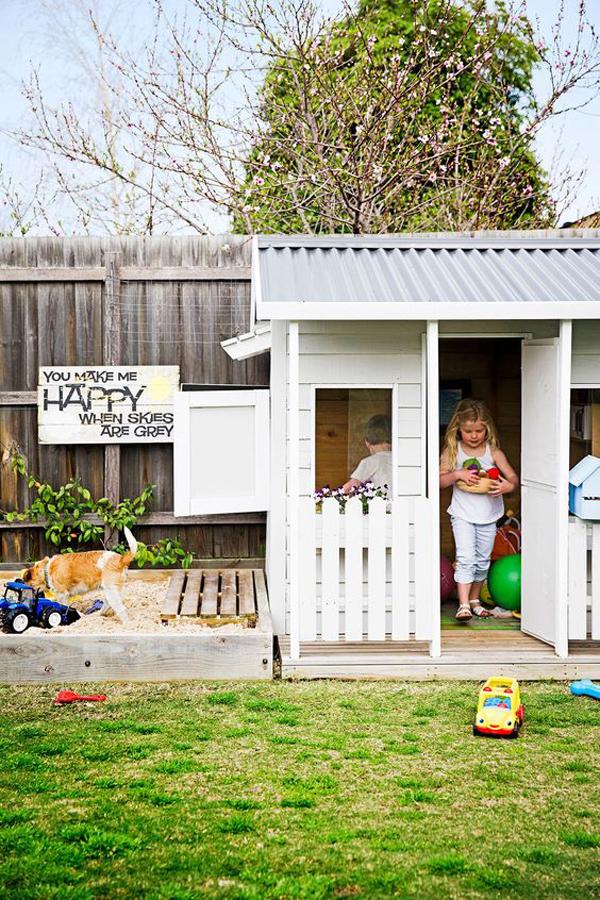 backyard-diy-cubby-house-with-sandbox