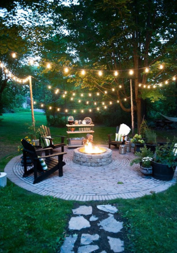 backyard-firepit-ideas-with-string-lights