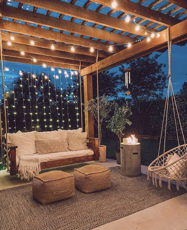 backyard-swing-chairs-with-string-lights