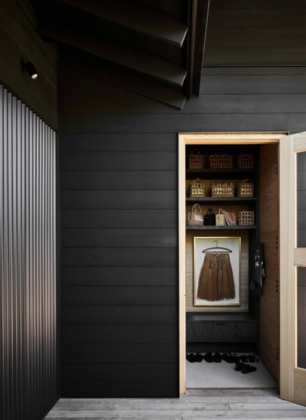 black-wood-closet-design
