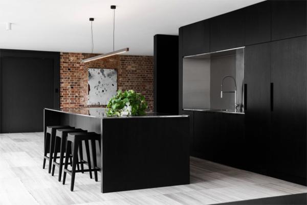 cool-black-kitchen-island-ideas