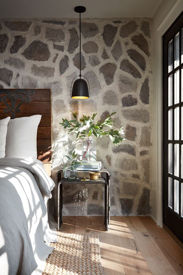 coolest-bedroom-with-stone-wall-textures