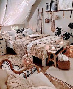 cozy-bohemian-bedroom-decor
