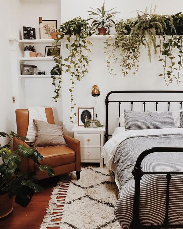 cozy-rustic-bedroom-ideas-with-indoor-plants