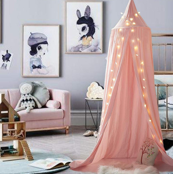 cute-pink-canopy-reading-nook