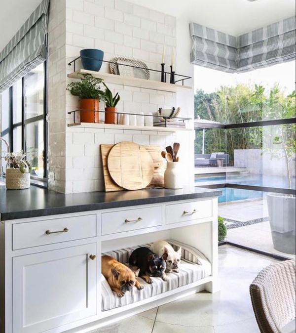 dog-bed-built-in-kitchen-cabinet