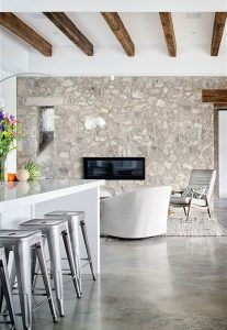 farmhouse-interior-with-natural-stone-wall-ideas