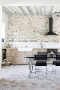 farmhouse-kitchen-with-natural-stone-wall