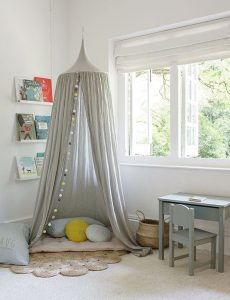 grey-kids-room-with-canopy-reading-nook